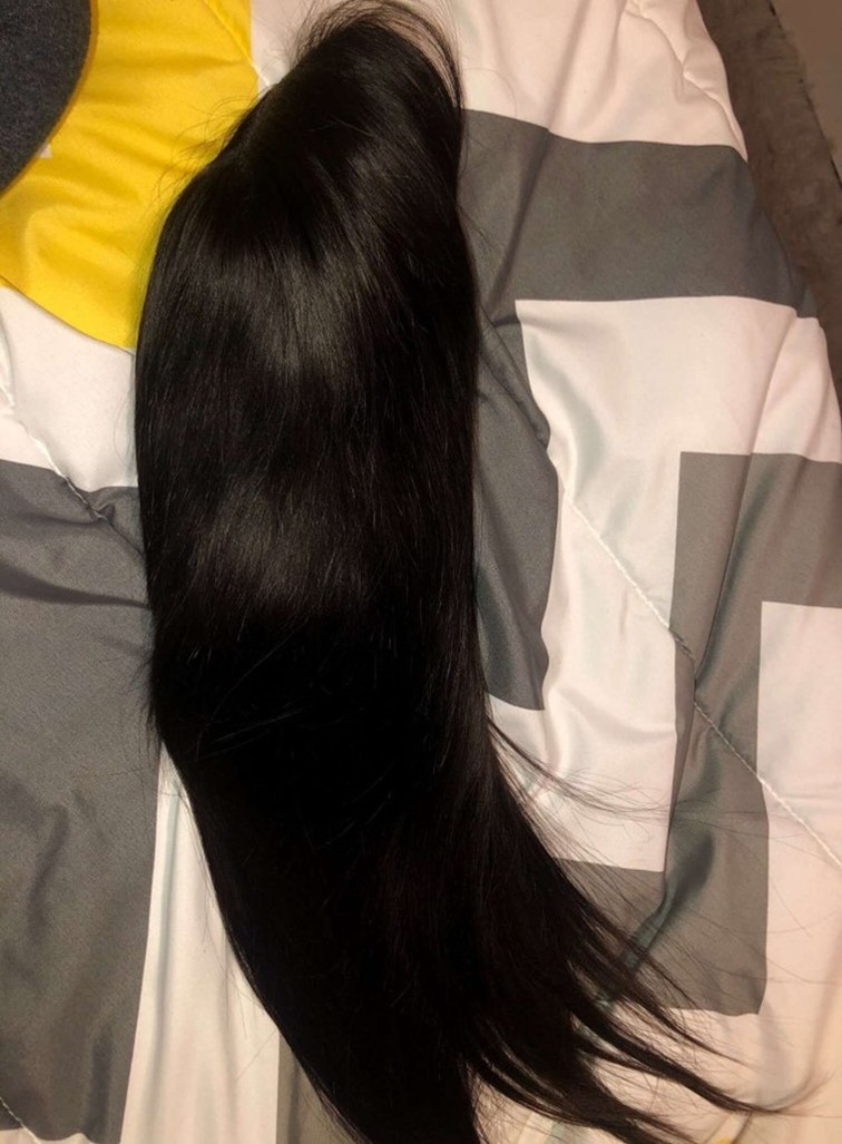 30 32 Inch Bone Straight Lace Front Human Hair Wigs for Black Women Pre Plucked Brazilian hair Remy 13x4 HD Lace Frontal Wig photo review
