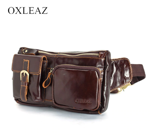 Men 'S Waist Bag Genuine Leather OXLEAZ OX6362
