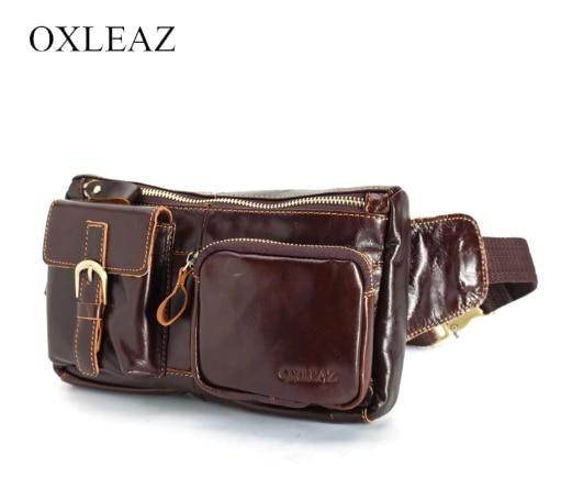 Men 'S Waist Bag Genuine Leather OXLEAZ OX6362