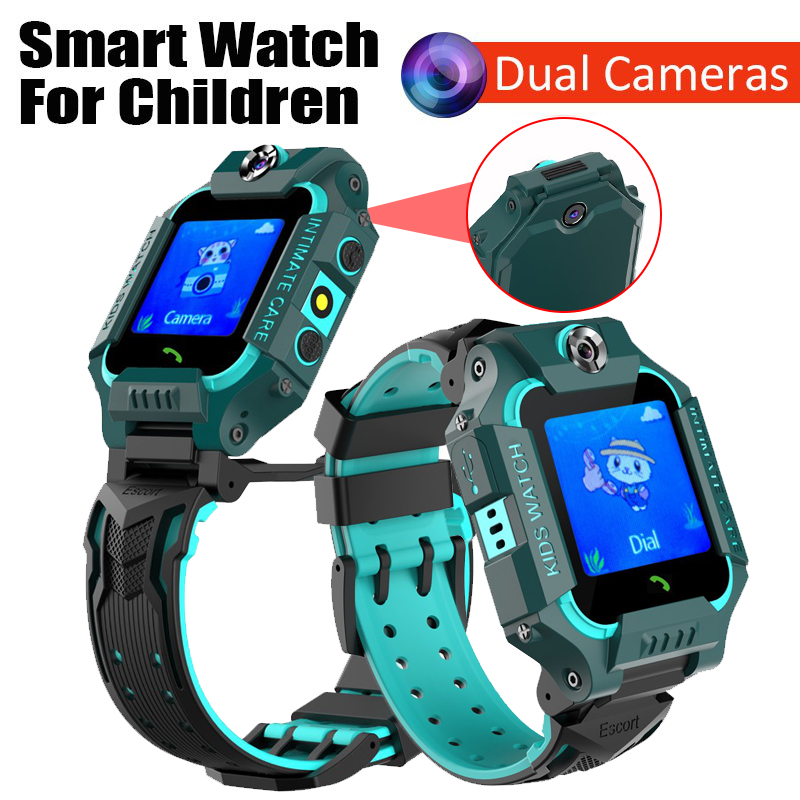 Children's Smart Watch Dual Camera Kids Smart Watches Voice monitoring SOS Call Anti Lost LBS Positioning Baby Phone Watch Gifts