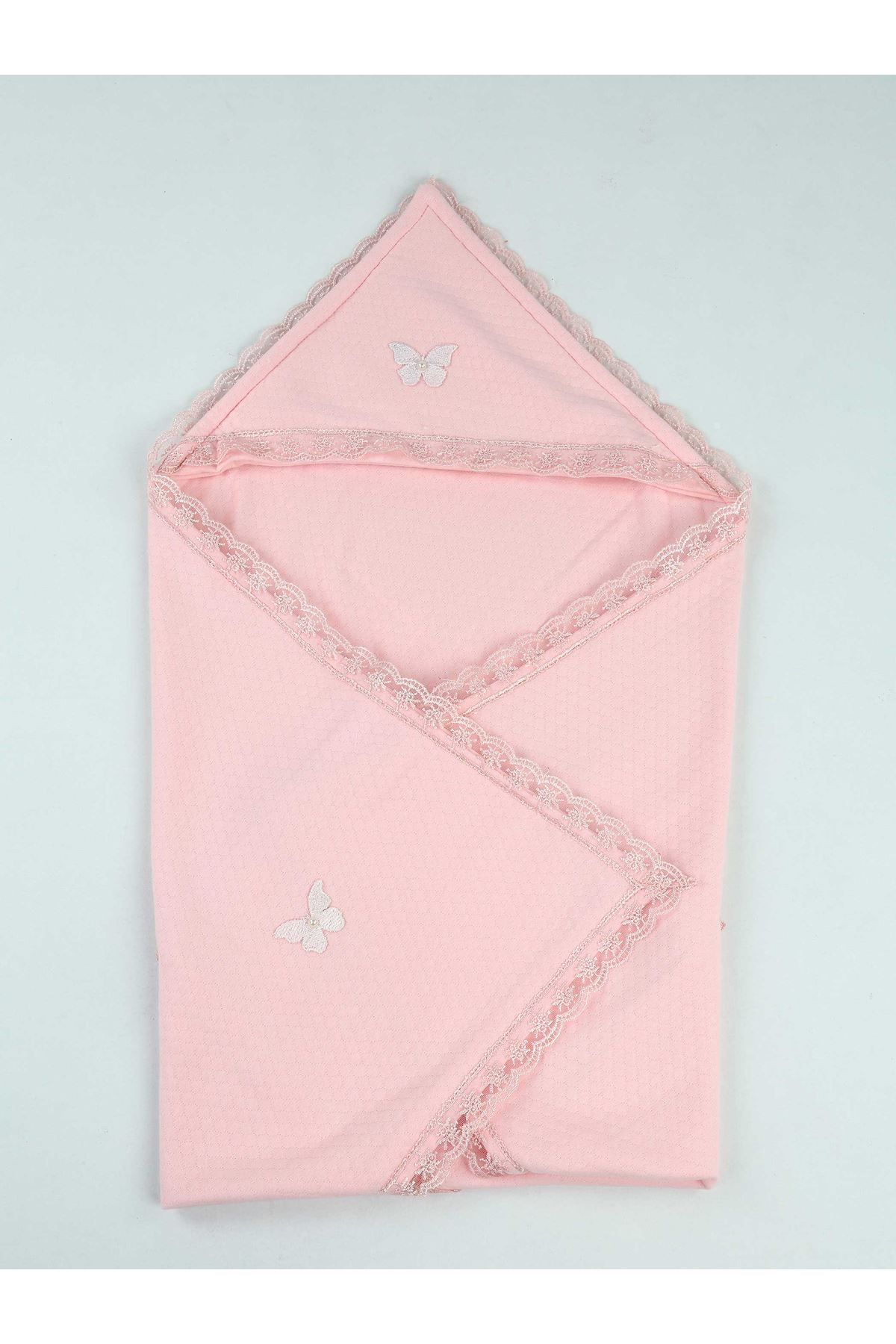 Pink 85 X85 Cm Girl Baby Swaddle Blanket