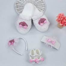 Baby girl boy mother gift set birth special day babies baby shoes mother slipper with stone crown bow tie newborn models