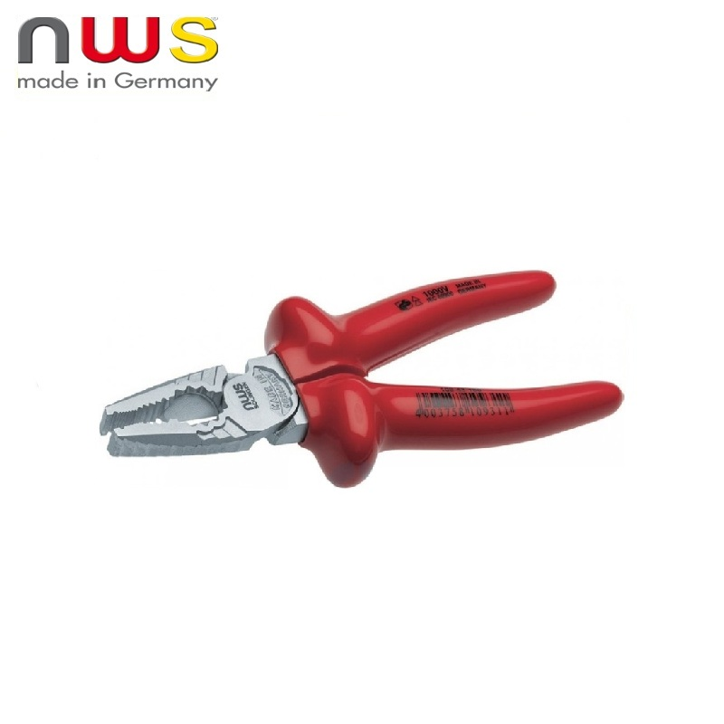 NWS Pliers dielectric CombiMax 1000V VDE 165 mm, Crom coating, double insulation Multifunctional pliers Diagonal rolling Cable W nws combimax 109 69 205