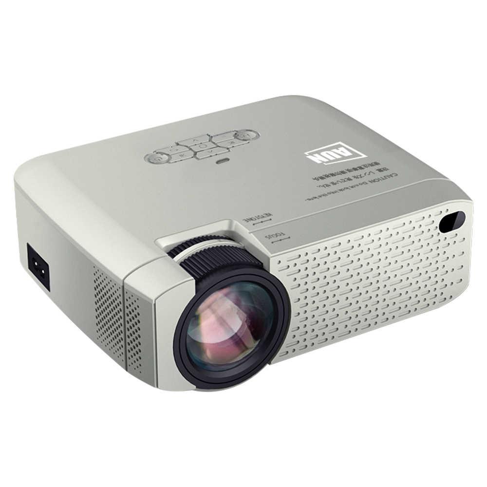 AUN LED Mini LED projektör | Stok tasfiye satışı | Video Beamer ev sineması, kablosuz ayna ekran IOS/Android telefon için