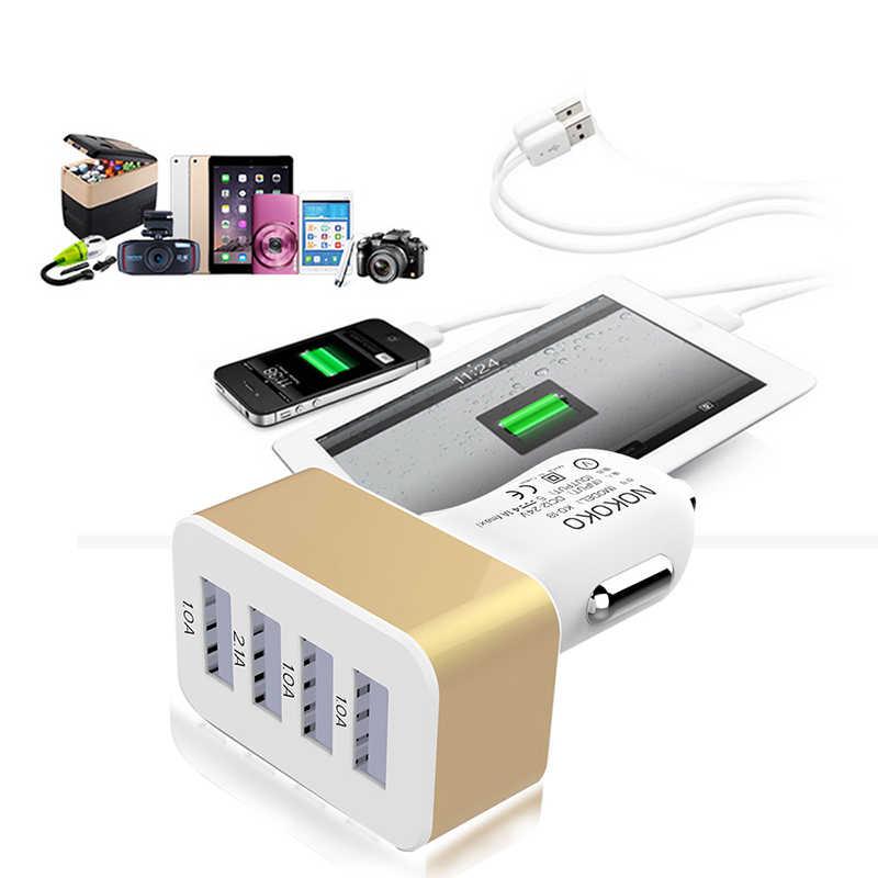 4 ميناء USB شاحن سيارة مقبس شاحن الهاتف محول 2A 2.1A 1A ل Xiaomi أبل Sumsang هواوي الهاتف