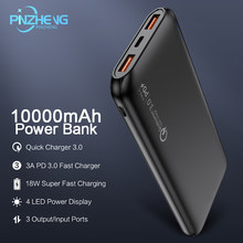 PINZHENG 10000mAh Quick Charger 3.0 Power Bank PD 3.0 Fast 18W Powerbank 10000 mAh External Mobile Battery For iPhone Xiaomi(China)