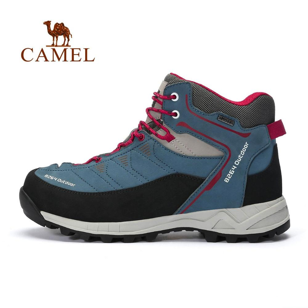 CAMEL 8264 Men High Top Hiking Shoes High Quality Durable Multicolor Warm Climbing Trekking Shoes Military