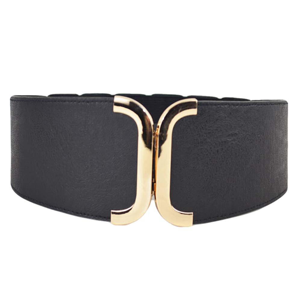 Womens Wide Belt Elastic Stretch Cinch Waistband Lady Cummerband Strap Party Dress Accessories Leather Belts For Women