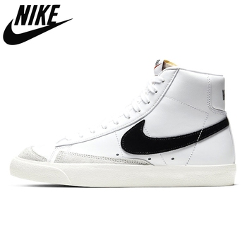 Authentic Nike Blazer Mid 77 Vintage Thermal Black Just Do It Skateboarding Shoes Outdoor Sports Sneakers Trainers 36-4