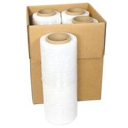 【US Warehouse】 18 x 1500 '80 Gauge 4 rollos de película estirable de envoltura retráctil manual 1500FT