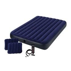 INTEX Кровать надувная  , ручной насос, 2 подушки,1,52x2,03м x 25см