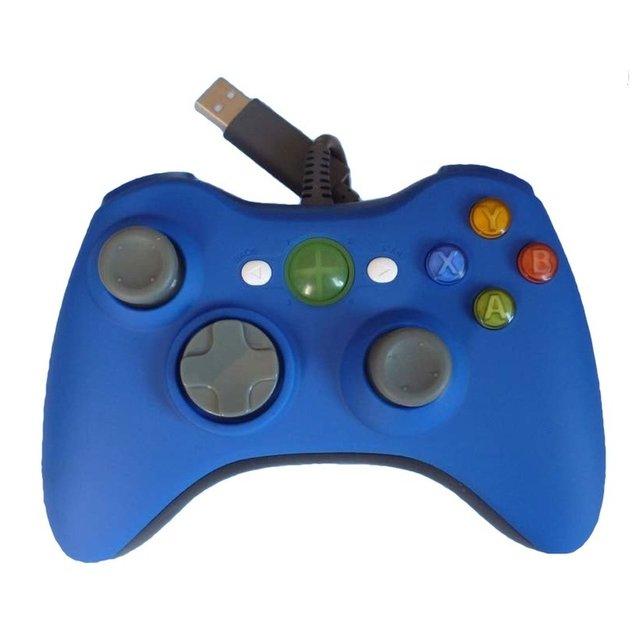 Проводной контроллер xbox 360 * совместимый * синий