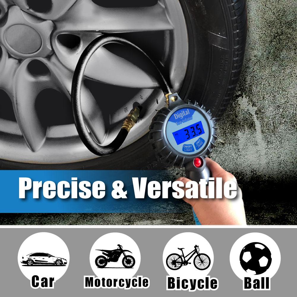 CE Pro Inflador de neumáticos digital con medidor de luz de fondo - Accesorios para herramientas eléctricas - foto 4