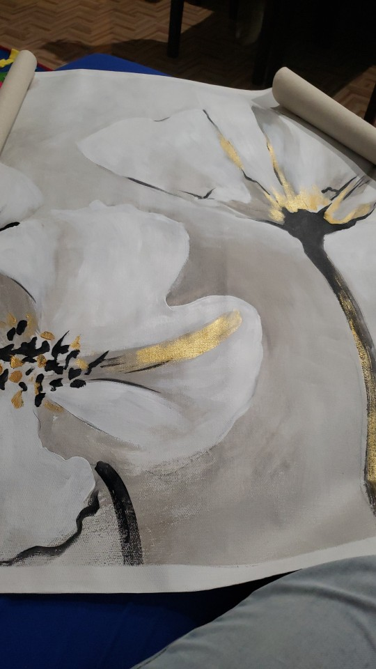 Abstract Flower Art Oil Painting