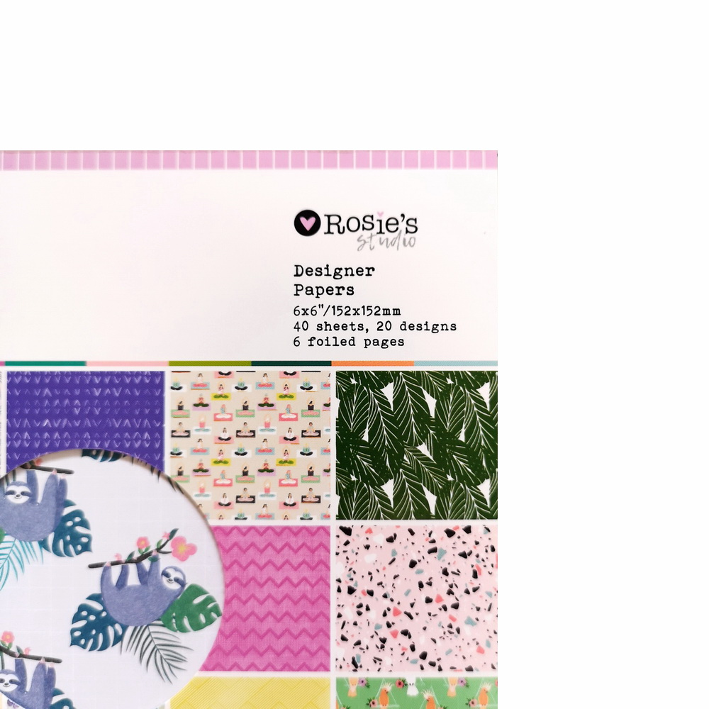 CRZCrafter 152x152mm 6 inch Scrapbooking Paper Pad 40 sheets Craft Paper Background pattern pack Acid free 3