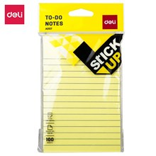DELI EA00752 à faire liste bloc-notes bloc-notes 100 feuilles/bloc-notes bureau maison papeterie bloc-notes Post It étiquette autocollant fournitures