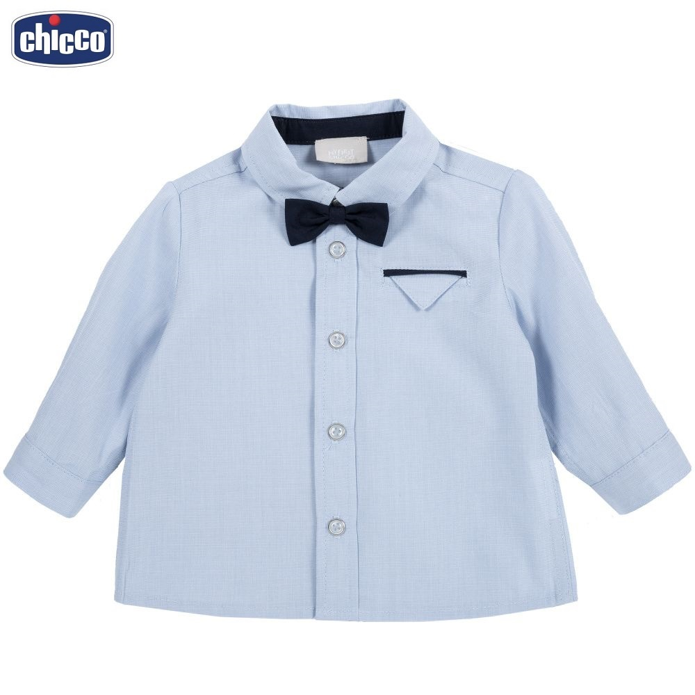 Рубашка Chicco с чёрной бабочкой, цвет синий