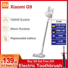Xiaomi Mijia – aspirateur à main sans fil G9 pour maison intelligente, collecteur de poussière, balayeuse de tapis de sol, 120aw, dernier modèle