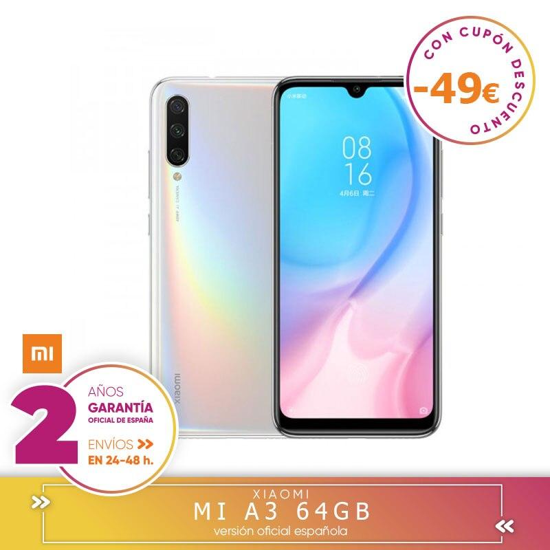 [Version officielle espagnole garantie] Xiao mi A3 Smartphone Snapdragon 665 4 go dur 64 go dur 48.0MP + 8.0MP + 2.0MP 3 caméras fixes arrière