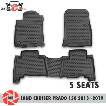 Tappetini per Toyota Land Cruiser Prado 150 2013 ~ 2019 5 SEDILI tappeti antiscivolo poliuretano sporco di protezione interni car styling