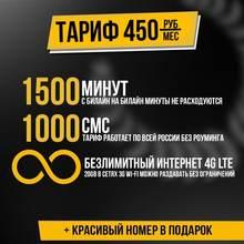 Безлимитный интернет Билайн за 450 руб в мес. по всей РФ во всех устройствах в 2G\3G\4G LTE с бесплатной раздачей, минутами, SMS