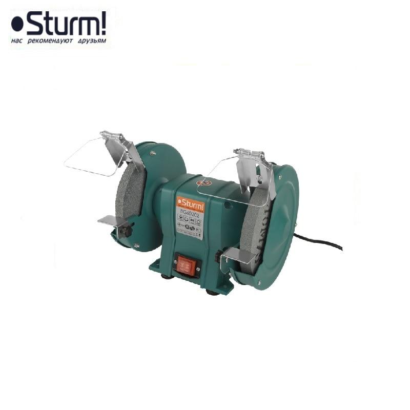 BG60202 Sturm grinder, circle 200x20x16 mm, 400 W, 2950 rpm Dry sharpening Cutting Grinding Roughing Stripping
