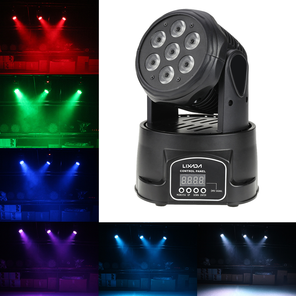 Moving Head LED Par DJ Light DMX Xmas Beam Led Party Lights Disco Light RGBW LED Stage Light Christmas New Year Show Disco