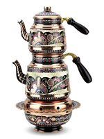 Rose Flower Classic Copper Teapot and Ottoman Quarry