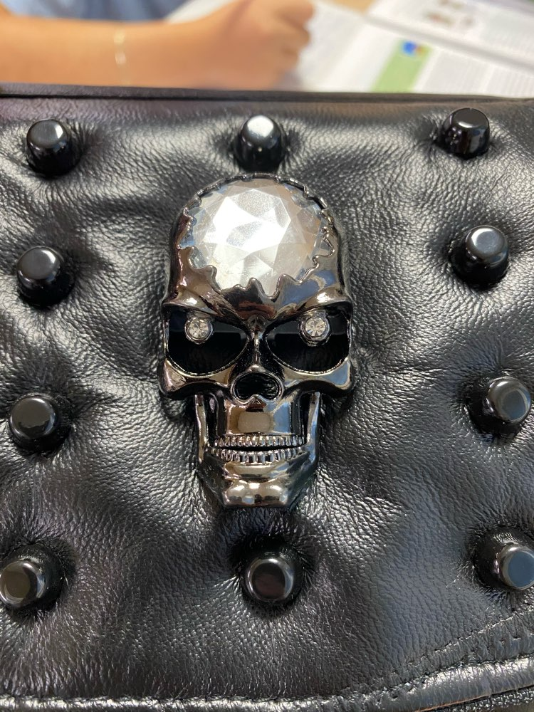 Crossbody Bag with Rivets and Skull photo review