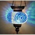 Многоцветный турецкий подвесной мозаичный светильник Марокканская мозаика освещение подвесной потолочный фонарь лампа подвесной светиль...