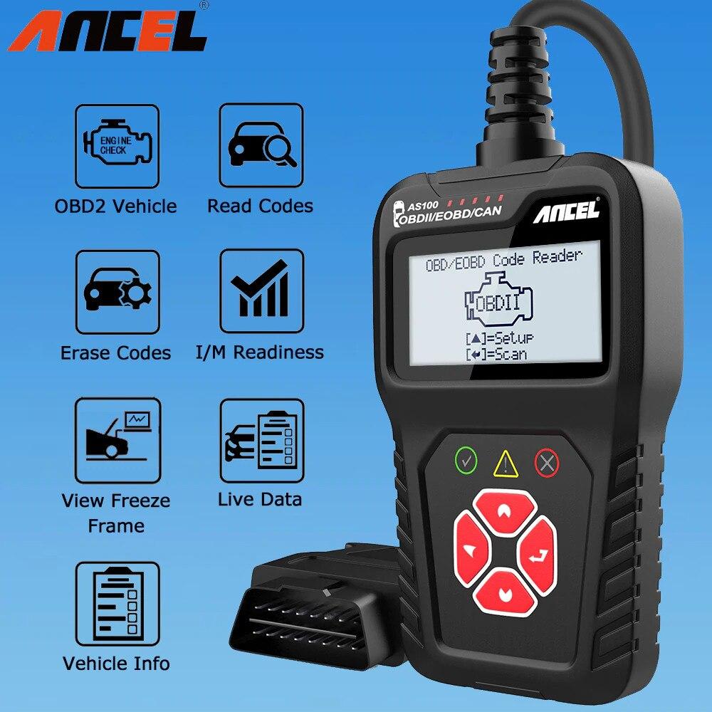 Ancel AS100 Obd2 Car Diagnostic Tool OBD 2 Automotive Scanner Engine Analyzer Tool Code Reader Obdii Scan Tool PK ELM327 v1.5
