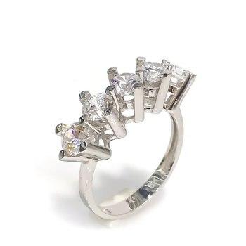 8 Sterling White Gold Dibs Diamond Handwork Ring 1