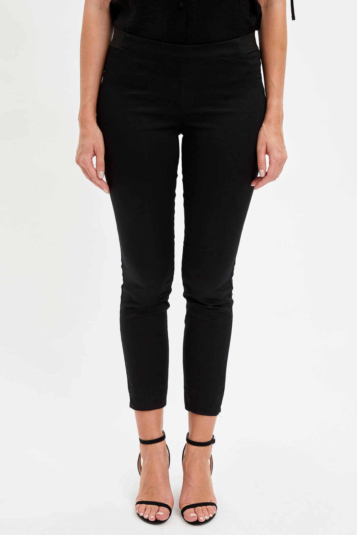DeFacto Donna Solid Pantaloni A Vita Alta Formale Elegante Morbido Pantaloni Per Le Signore casual Affari Pantaloni Femminili-J8743AZ19AU