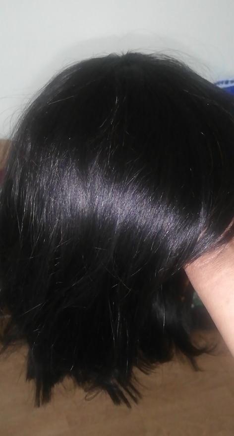 Short Bob Wig With Bangs Straight Brazilian Hair Wigs For Women Human Hair Glueless Full Machine Made Cheaper Human Hair Wigs photo review