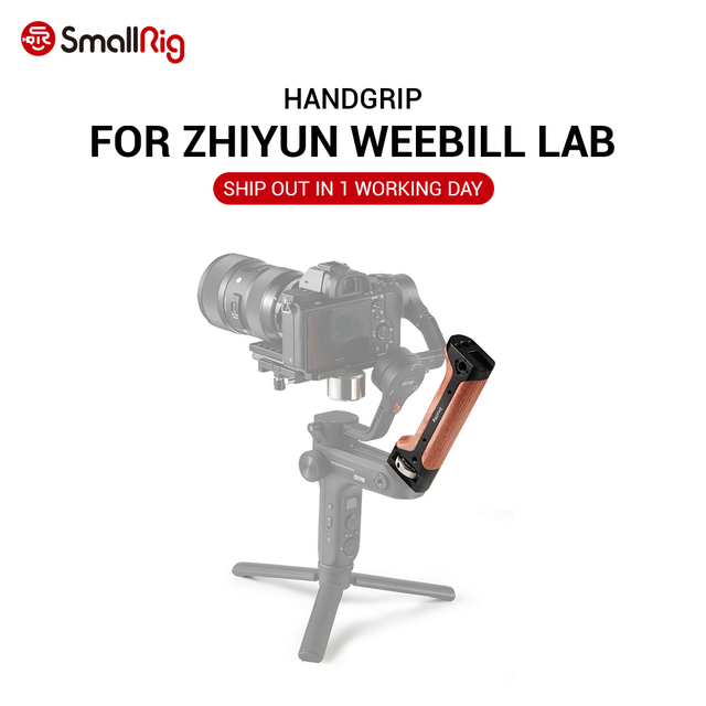 SmallRig DSLR Camera Handle Handgrip for Zhiyun WEEBILL LAB Gimbal With Shoe Mount and 1/4 3/8 Thread Holes for DIY Options 2276