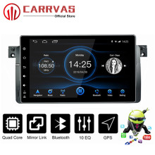 CARRVAS 2 din Android GPS Navigator For BMW E46 9 inch Car Stereo Din Quad Core Audio Radio 8 Multimedia With RDS