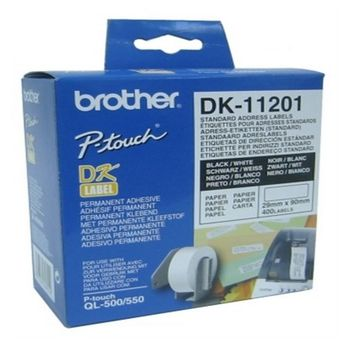 Printer Labels Brother DK11201 29 x 90 mm White