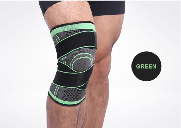 1PCS Lap Support Professional Protective Sports Knee Pad Breathable Bandage Lap Brace Basketball Tennis Cycling Cushion