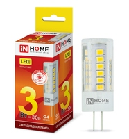 LED lamp LED JC VC 3 W 12 V G4 3000 270Лм IN HOME
