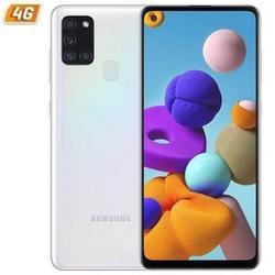 Смартфон Samsung Galaxy A21S 3Gb/ 128Gb/6,5 дюйм/белый смартфон мобильный телефон