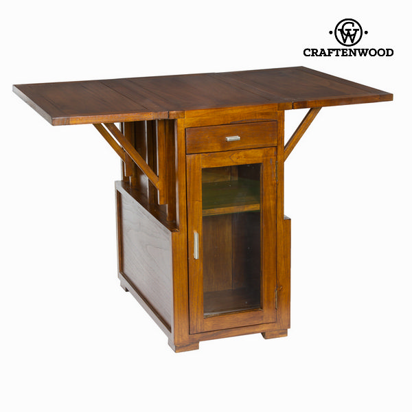 Expandable Table Mindi Wood (78 X 70 X 40 Cm) - Serious Line Collection By Craftenwood