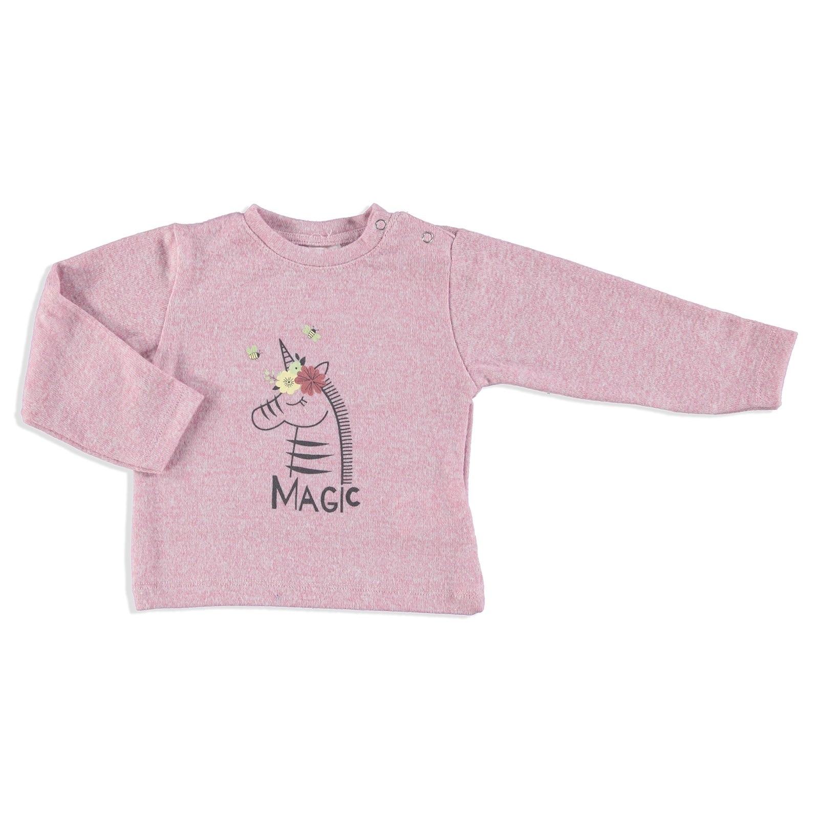 Ebebek Bombili Winter Printed Baby Girl Soft Touch Sweatshirt