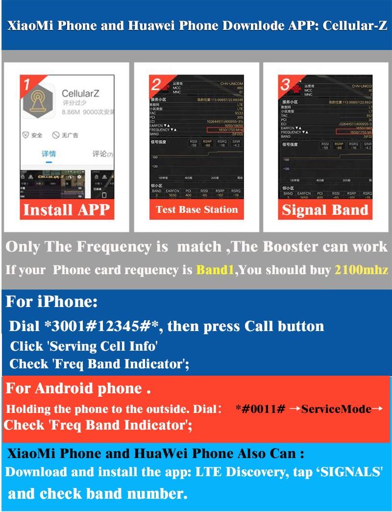 2600mhz 4g celular celular amplificador gsm repetidor