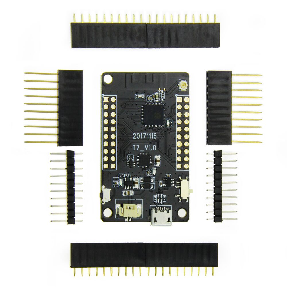 LILYGO® TTGO T7 ESP32 WiFi Module ESP32 Bluetooth PICO-D4 4MB SPI Flash Development Board okulary wojskowe