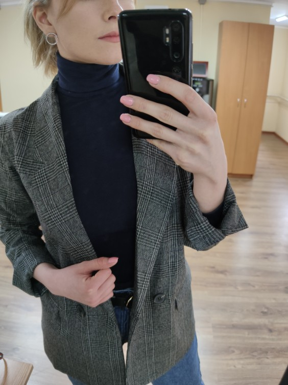 CBAFU autumn spring jacket women suit coats plaid outwear casual turn down collar office wear work runway jackets blazer N785 reviews №1 88679