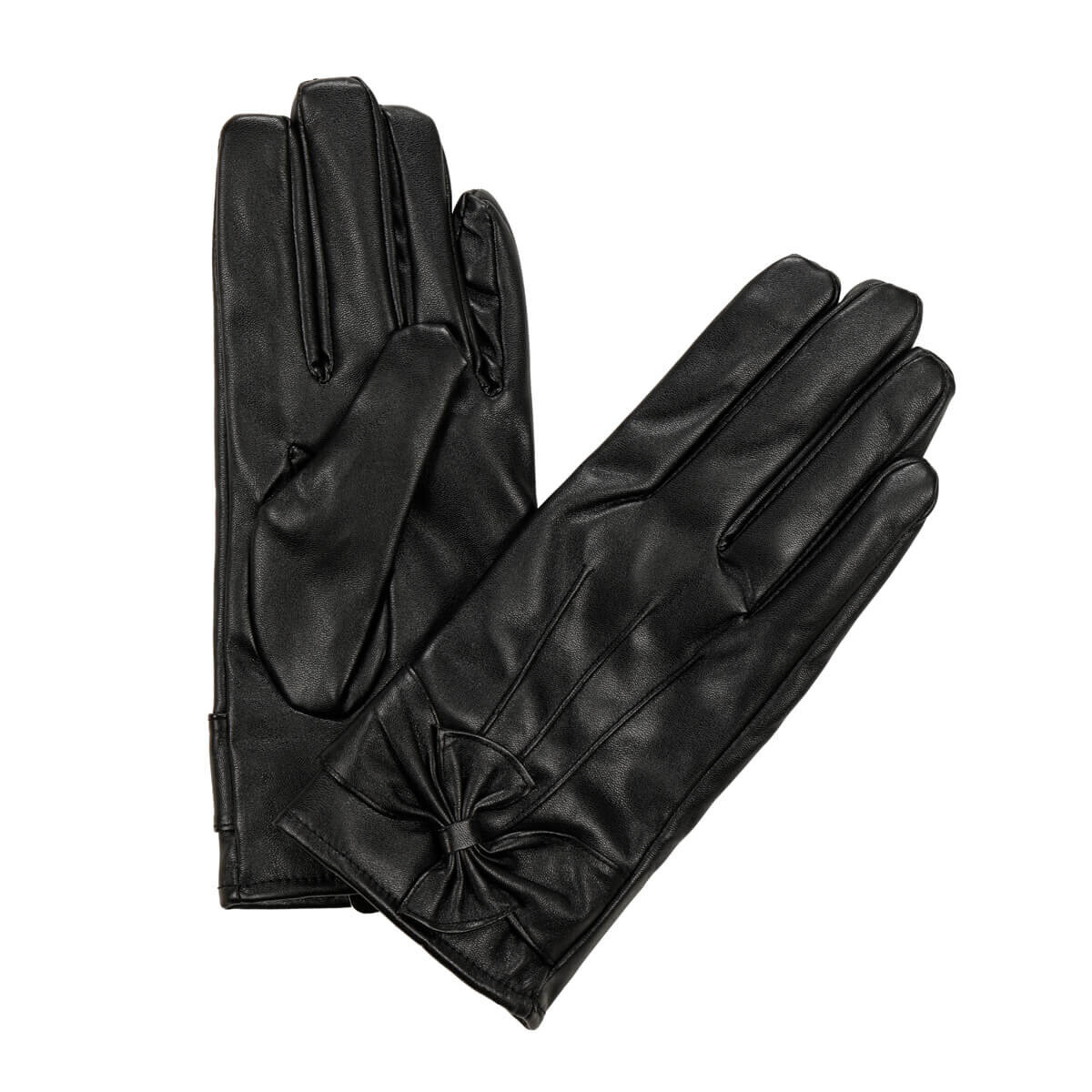 FLO BLACK RIBBONS GLOVES Black Women 'S Gloves Miss F