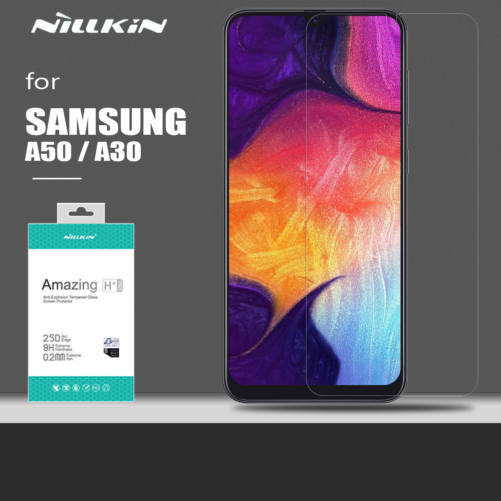 for Samsung Galaxy A50 A30 Glass Nillkin Safety H+ PRO Ultra Thin Tempered Glass Protective Screen Protector for Samsung A50 A30|Phone Screen Protectors| |  - title=