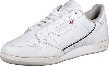 Adidas Originals Continental 80, men's running shoes, white (Footwear White/gray/gray 0), 44 2/3 EU