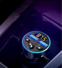 FM bluetooth 5.0 трансмиттер модулятор передатчик в авто блютуз грмка связь Hend free 3.1 A быстрое зарядное устройство USB mp3