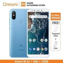 Global Version Xiaomi Mi A2 128GB ROM 6GB RAM (อย่างเป็นทางการ ROM) Mia2 128GB โทรศัพท์มือถือสมาร์ทโฟน